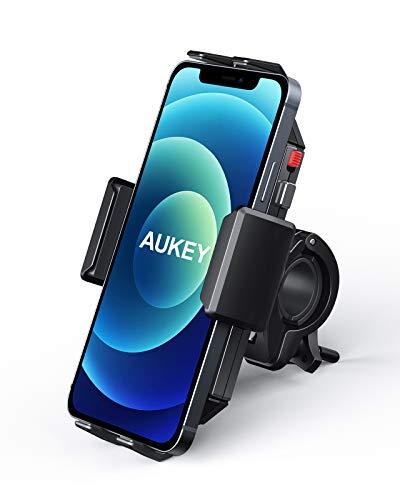 AUKEY Bike Phone Mount Anti Shake 360° Rotation Bicycle Motorcycle Phone Mount for...