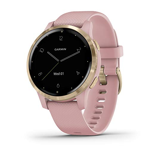 Garmin vivoactive 4S, Smaller-Sized GPS Smartwatch, Features Music, Body Energy...