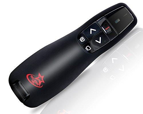 Red Star Tec Wireless Powerpoint and Keynote Presentation Remote Clicker PR-819 (Black, 1...