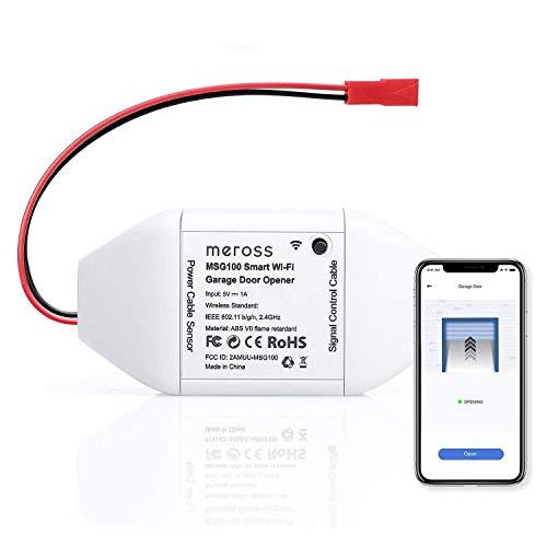 meross Smart Wi-Fi Garage Door Opener Remote, APP Control, Compatible with Alexa, Google...