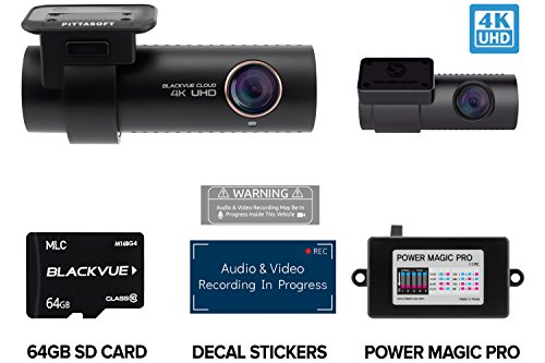 BlackVue DR900S-2CH with 64GB Micro SD Card with Power Magic Pro Hardwiring Kit Included |...