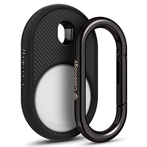 Caseology Vault Compatible with Apple AirTag Case for AirTag Keychain (2021) - Matte Black