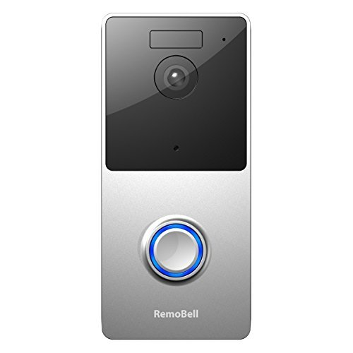 RemoBell WiFi Video Doorbell (Battery Powered, Night Vision, 2-Way Audio, HD Video, Motion...