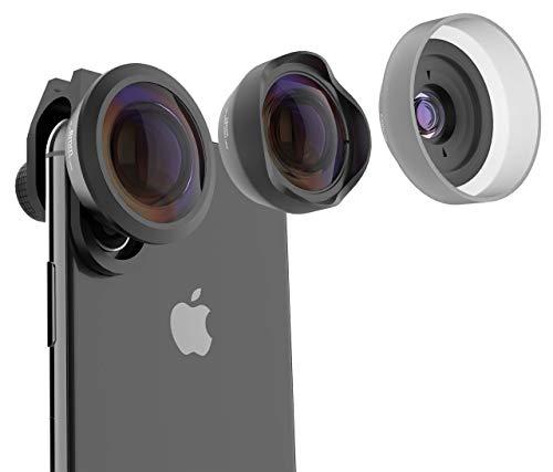 PUZZLEK Phone Camera Lens Kit 3 in 1, 15X HD Macro, 120° Wide Angle, 238° Fisheye,...