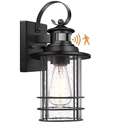 Motion Sensor Outdoor Wall Light, Dusk to Dawn Sensor Porch Light FixturesWall Mount,...