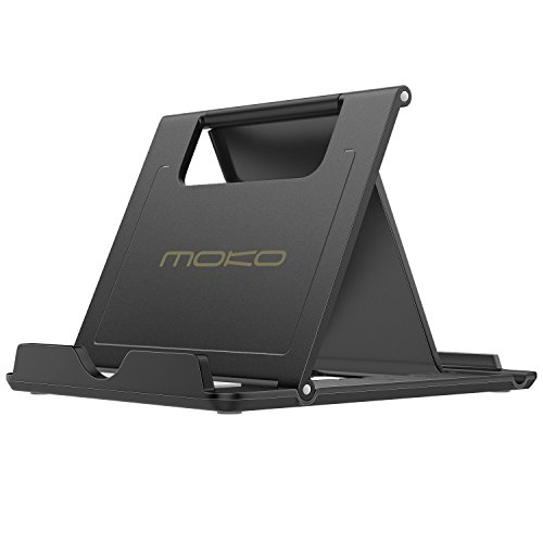 MoKo Phone/Tablet Stand, Foldable Desktop Holder Fit with iPhone 12 Pro Max / 12 Mini, 11...