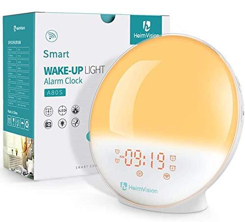 HeimVision Sunrise Alarm Clock, A80S Smart Wake up Light Work with Alexa, Sleep Aid...