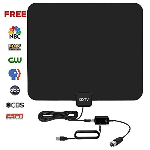 SKYTV 50 Miles Range Indoor Digtial HD TV Receiver with 13.2ft coaxial Cable,Full HD and...