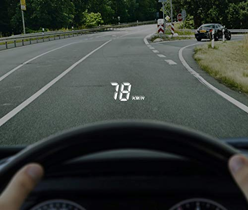 SHEROX 3.5' Car HUD Head Up Display with OBD2/EUOBD Interface Plug & Play Vehicle Speed...