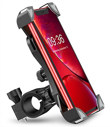 Bovon Anti-Shake Bike Phone Mount, 360 Rotation Universal Bicycle Motorcycle Phone Mount...