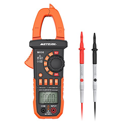 Meterk Digital Clamp Meter Multimeter 4000 Counts Auto-ranging Multimeter AC/DC...