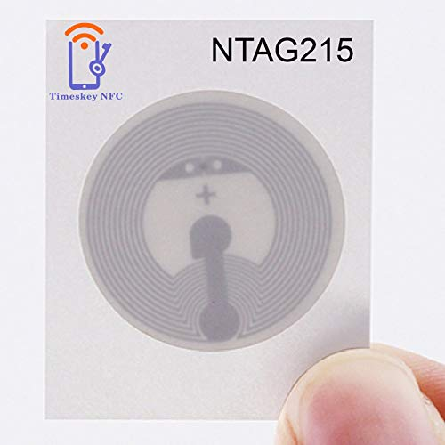 Timeskey NFC 10PCS NTAG 215 NFC Stickers NXP NTAG215 NFC Tags 100% Compatible with TagMo...