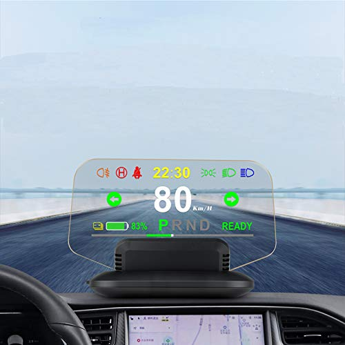 Car HUD Head Up Display Synchronize with Model 3 For 2019 2020 2021 Tes-la OverSpeed...