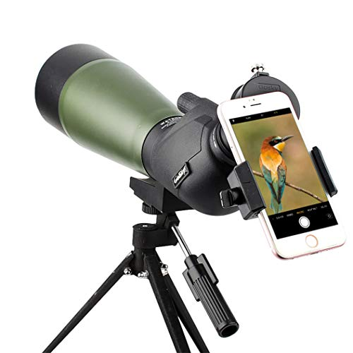 Gosky Spotting Scope with Tripod, Carrying Bag and Scope Phone Adapter - BAK4 45 Degree...