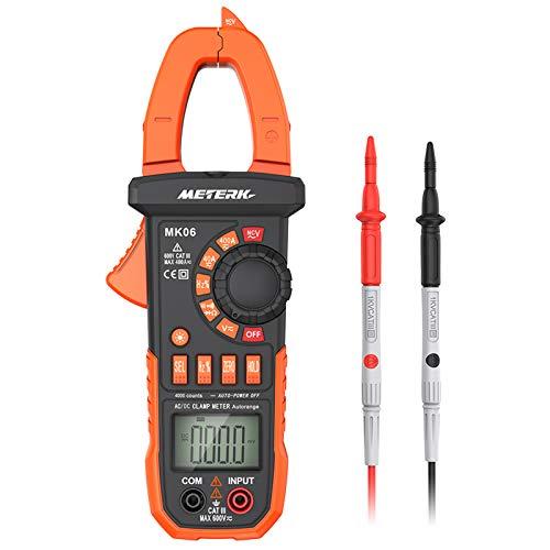 Meterk Digital Clamp Meter Multimeter 4000 Counts Auto-ranging Multimeter AC/DC Voltage &...