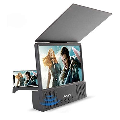 Jteman 5-in-1 Bluetooth Spearker 3D HD Mobile Phone Screen Magnifier Amplifier Movie Video...