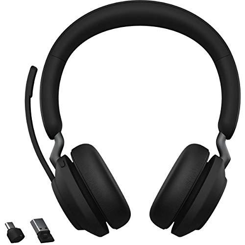 Jabra Evolve2 65 UC Wireless Headphones with Link380a, Stereo, Black – Wireless...