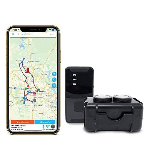 GPS Tracker - Optimus 2.0 4G LTE Bundle with Waterproof Twin Magnet Case