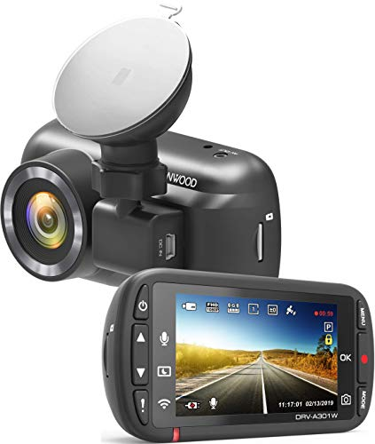 Kenwood DRV-A301W HD dash cam with 2.7' Display, Parking Mode Recording | Built-in GPS |...