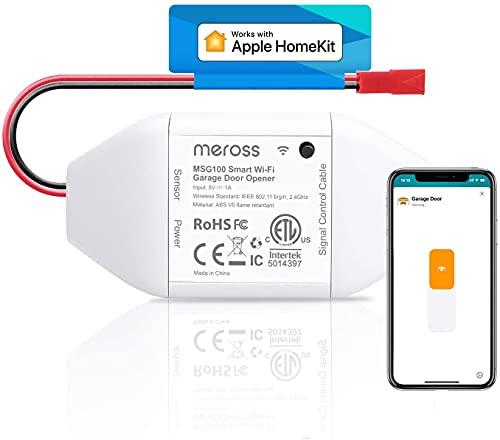 meross Smart Garage Door Opener Remote, Compatible with Apple HomeKit, Amazon Alexa,...