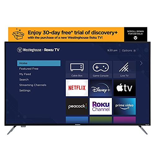 Westinghouse 55 Inch 4K Ultra HD Smart Roku TV with HDR