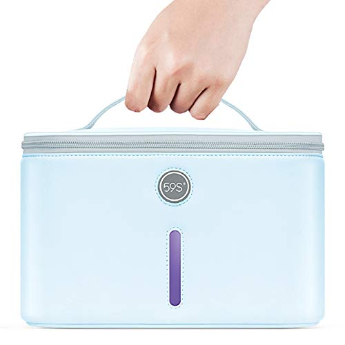 UV Light Sanitizer Bag, UV Disinfection Box, UVC Cleaner Disinfection Lamp Compact for...