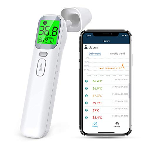 Wellue Non Contact Thermometer, Thermometer Infrared Forehead for Fever, Ear Thermometer...
