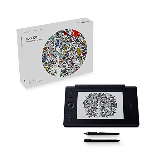 Wacom PTH660P Intuos Pro Paper Edition Digital Graphic Drawing Tablet for Mac or PC,...