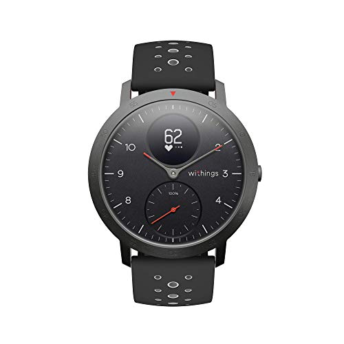 Withings Steel HR Sport - Multisport hybrid Smartwatch, connected GPS, heart rate, fitness...