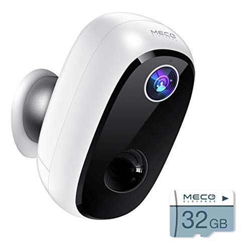 【32GB Include】 Wireless Outdoor Security Camera, MECO 1080P Rechargeable Battery WiFi...