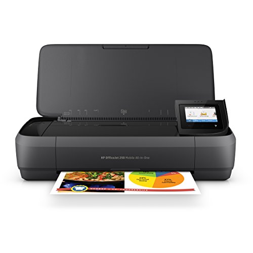 HP OfficeJet 250 All-in-One Portable Printer with Wireless & Mobile Printing, Works with...