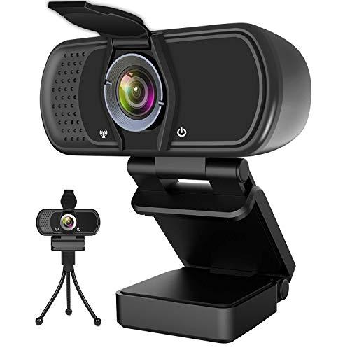 Hrayzan Webcam 1080P,HD Webcam with Microphone, PC Laptop Desktop USB Webcams with 110...