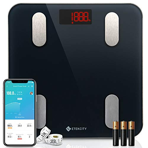 Etekcity Smart Body Fat Scale, Digital Bathroom Scales for Body Weight, BMI, and Weight...