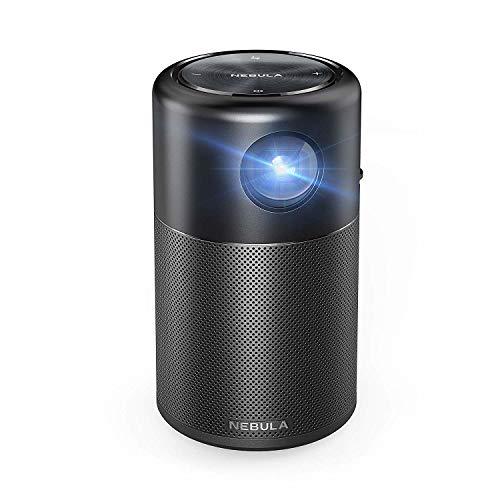 Anker Nebula Capsule, Smart Wi-Fi Mini Projector, Black, 100 ANSI Lumen Portable...