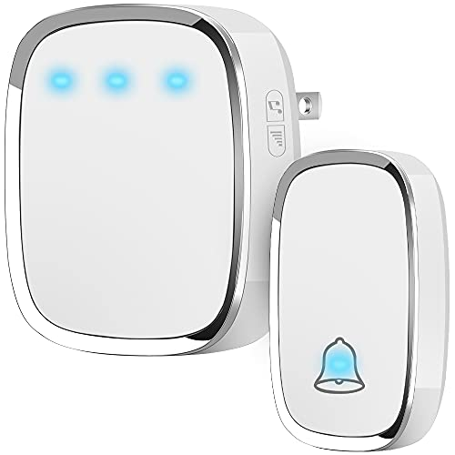 Anko Wireless Doorbell, Plug and Play Waterproof Door Bell Kit; 1000 Feet Operating Range;...
