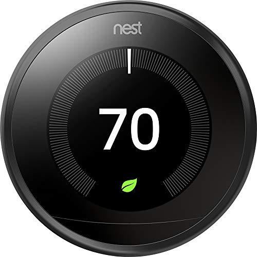 Google, T3016US, Nest Learning Thermostat, 3rd Gen, Smart Thermostat, Black,...