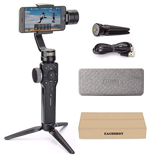 Zhiyun Smooth 4 3-Axis Handheld Gimbal Stabilizer with Grip Tripod for iPhone 12 11 Pro Xs...