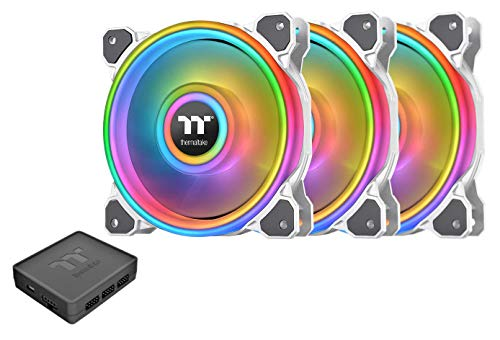 Thermaltake Riing Quad 120mm 16.8 Million RGB Color (Alexa, Razer Chroma) Software Enabled...