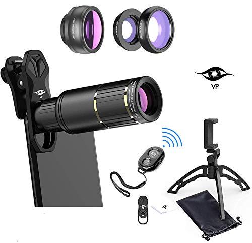 ViewPoint Phone Camera Lens Phone Lens Kit [Upgraded 2020] 16X Zoom Lens Telescope...