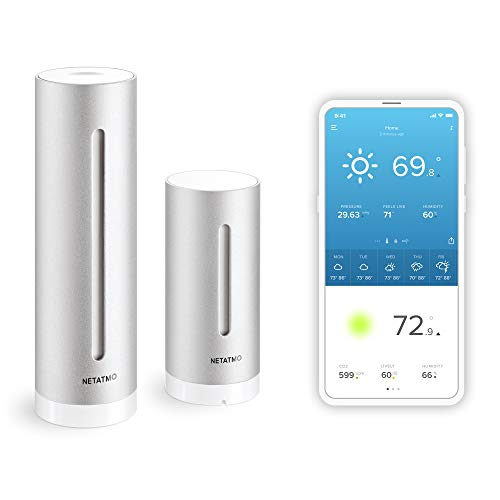 Netatmo Weather Station Indoor Outdoor with Wireless Outdoor Sensor - Compatible with...