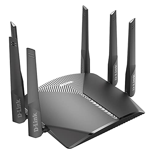 D-Link WiFi Router AC3000 EasyMesh Smart Internet Network Compatible with Alexa & Google...