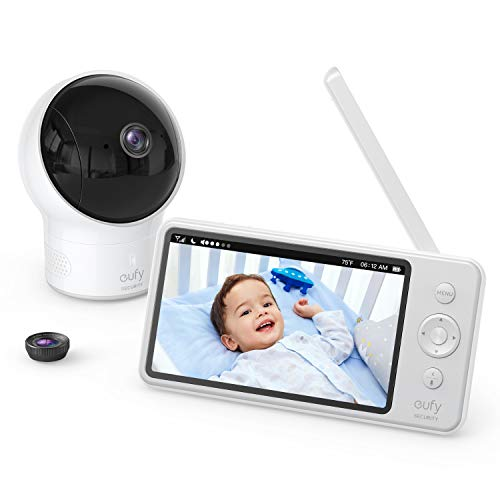 Video Baby Monitor, eufy Security, Video Baby Monitor with Camera and Audio, 720p HD...
