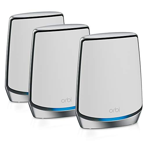 NETGEAR Orbi Whole Home Tri-Band Mesh Wi-Fi 6 System (RBK853) – Router with 2 Satellite...