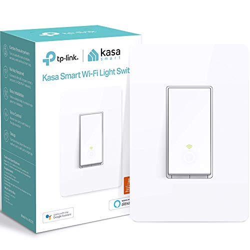 Kasa Smart (HS200) Light Switch by TP-Link, Single Pole, Needs Neutral Wire, 2.4Ghz WiFi...