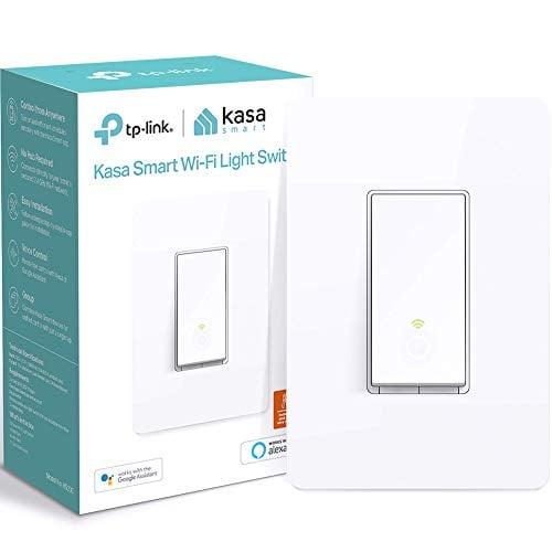 Kasa Smart Light Switch by TP-Link, Single Pole, Needs Neutral Wire, 2.4Ghz WiFi...