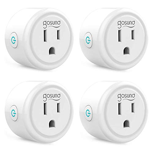 Smart plug, Gosund Mini Wifi Outlet Works with Alexa, Google Home, No Hub Required, Remote...