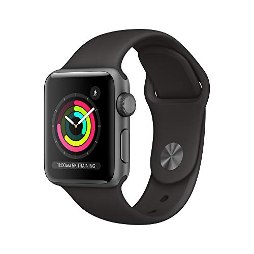 AppleWatch Series3 (GPS, 38mm) - Space Gray Aluminum Case with Black Sport Band
