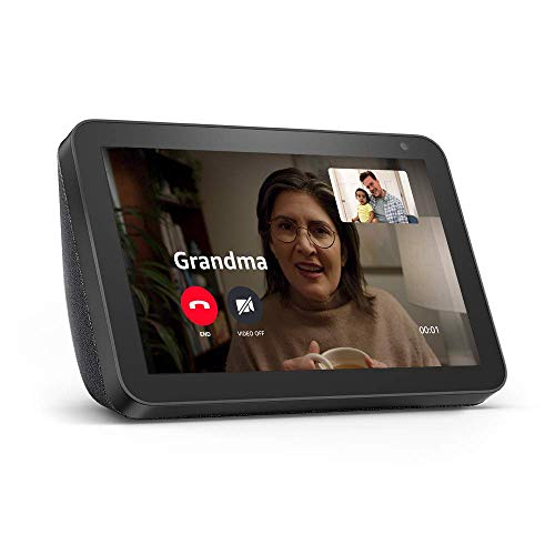 Echo Show 8 -- HD smart display with Alexa – stay connected with video calling -...