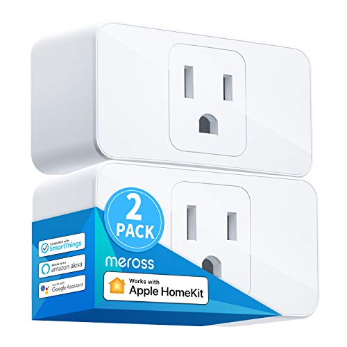Meross Smart Plug Mini, 16A & Reliable WiFi, Support Apple HomeKit, Siri, Alexa, Echo,...