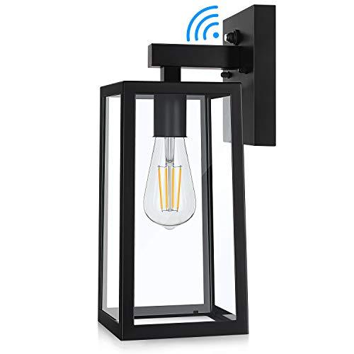Dusk to Dawn Sensor Outdoor Wall Sconce, Exterior Wall Lantern Fixture with E26 Base...